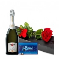 Rose, Asti Martini and Baci Chocolates