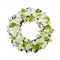 White and Cream Wreath