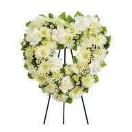 White Heart Wreath