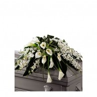 White Lily Casket Spray