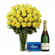 Yellow and Special with Baci and Moet