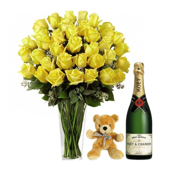 Yellow and Special with Moet and Teddy